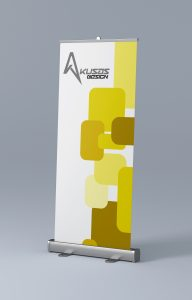 Roll-Up Banner Mockup Side